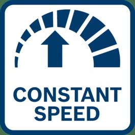 Beste Arbeitsergebnisse bei gleichbleibender Geschwindigkeit dank elektronischer Regulierung der Geschwindigkeit – selbst unter Last
