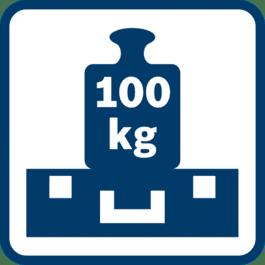Estremamente robusto Coperchio in grado di sostenere carichi fino a 100 kg, ogni BOXX può sostenere fino a 25 kg