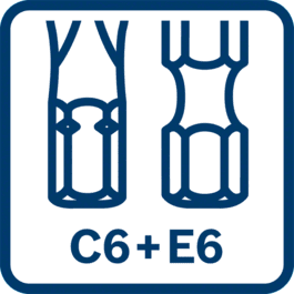 Te gebruiken voor C6 + E6 bits