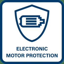 Lange Motorlebensdauer Lange Motorlebensdauer durch Abschalten des Motors bei Überlast, Überhitzung oder Blockierung