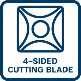 Productivité élevée grâce au couteau réversible à 4 bords de coupe pour des résultats parfaits et une durée de vie prolongée