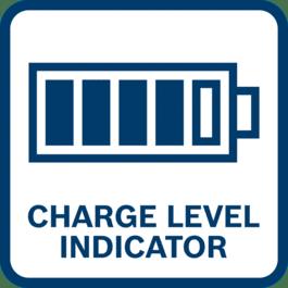 Le témoin de charge de batterie indique le niveau de charge restant de la batterie