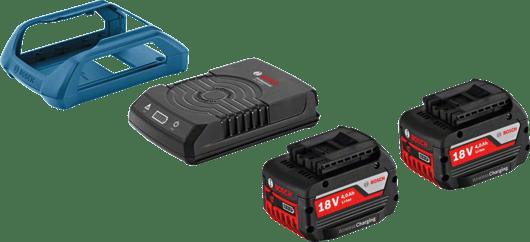 с 2 x 4,0 Ah литиево-йонна акумулаторна батерия, монтажна рамка за зарядно устройство