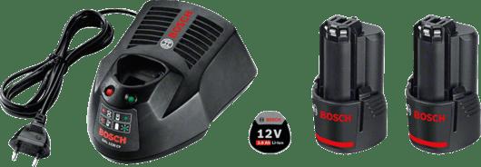 2 x GBA 12V 3.0Ah + GAL 1230 CV Professional