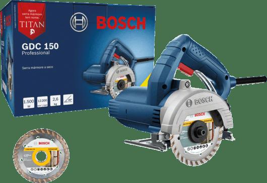 Serra Mármore a seco Bosch GDC 150 TITAN 1500W 127V, com 1 Disco Professional