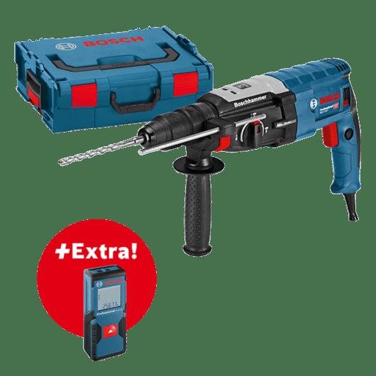 Profesionálna súprava: vŕtacie kladivo GBH 2-28 F + laserový merač vzdialenosti GLM 30 vL-BOXXe Professional