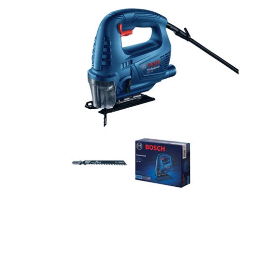 con 1 hoja de sierra de calar T 144 C, Speed for Wood (disponible por separado en juego de 3 unidades: 2 608 630 560)