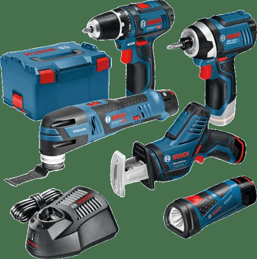 Akumulátorová súprava 12V GSA + GSR + GOP + GDR + GLI + 3× akumulátor 2,0Ah vkufri L-BOXX Professional