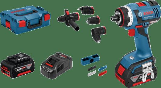 в L-BOXX с 2 литий-ионными аккумуляторами емкостью 5,0 А•ч, c комплектом принадлежностей