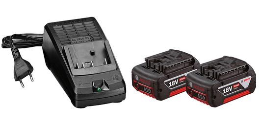 Conjunto para iniciantes de 2 baterias GBA 18V 3.0Ah + carregador bi-volt AL 1814 CV Professional
