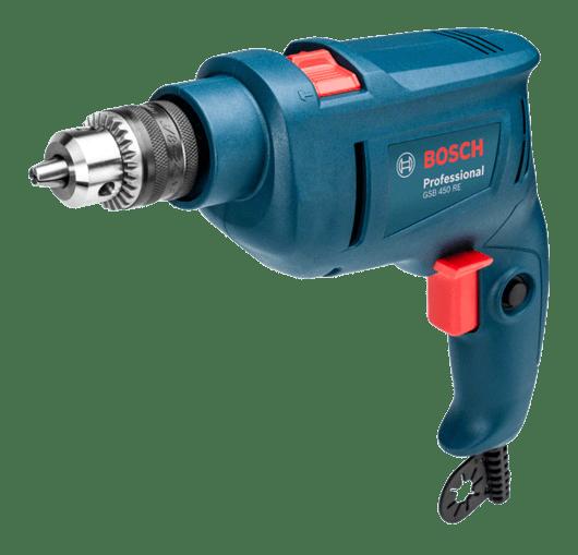 Furadeira de Impacto Bosch GSB 450 RE 450W 127V com 3 Brocas Professional