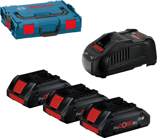 Profesionalni set: 3 x ProCORE18V akumulatora + GAL 1880 CV u L-BOXX 102 Professional