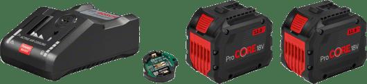 в картонена кутия с 2 x 12,0 Ah ProCORE18V литиево-йонна акумулаторна батерия, 1 x Bluetooth Low Energy модул GCY 30-4 (1 600 A00 R26)