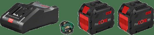 v kartonski škatli z 2 litij-ionskima akumulatorskima baterijama 12,0 Ah ProCORE18V