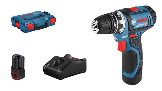 в L-BOXX с 2 литий-ионными аккумуляторами емкостью 2,0 А•ч, со сверлильным патроном-насадкой GFA 12-B (1 600 A00 F5H)