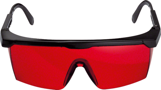 Lazer gözlüğü (kırmızı) Professional