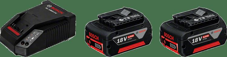 Kezdőkészlet: 2 x GBA 18V 4,0 Ah + AL 1860 CV Professional
