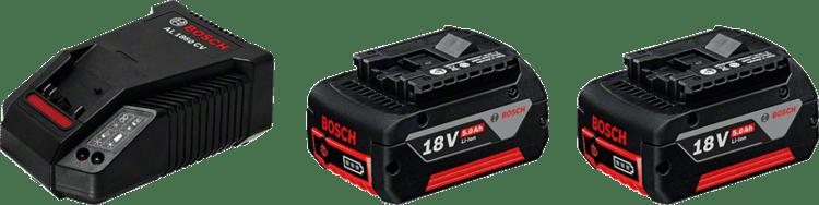Kezdőkészlet: 2 x GBA 18V 5,0 Ah + AL 1860 CV Professional