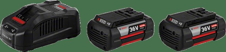 Kezdőkészlet: 2 x GBA 36V 4,0 Ah + GAL 3680 CV Professional