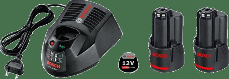 Set pentru începători 2 x GBA 12V 2,5 Ah + GAL 1230 CV Professional