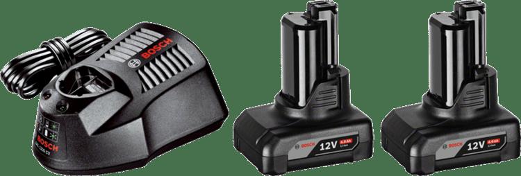 Kezdőkészlet: 2 x GBA 12V 4,0 Ah + GAL 1230 CV Professional