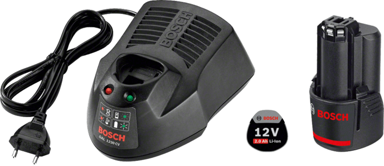 Starter set GBA 12V 2.0Ah + GAL 1230 CV Professional