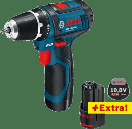 Profesionalni set: Akumulatorska bušilica-izvijač GSR 12V-15 (2 x 2,0 Ah) + GBA 12V 2.0Ah u L-BOXX-u 102 Professional