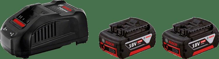 Juego básico de 2 GBA 18V 3.0Ah + GAL1880CV Professional