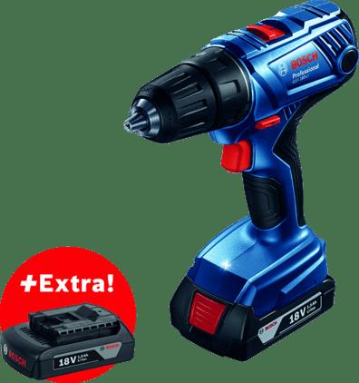 GSR 180-LI (2 x 1,5 Ah) + 1 x GBA 18V 1.5Ah (JK) Professional