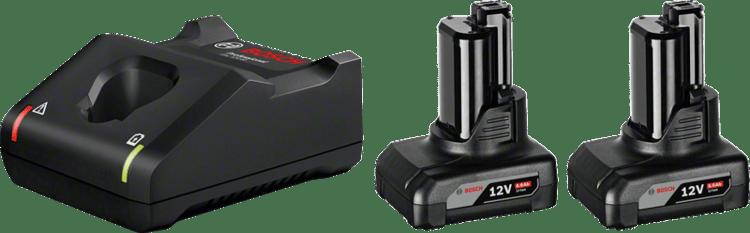 2 x GBA 12V 6.0Ah + GAL 12V-40 Professional