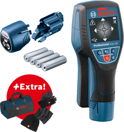 Profesionálna súprava: Detektor D-tect 120 + zimná súprava + taška na náradie Professional