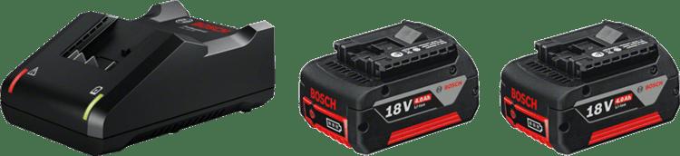 2 x GBA 18V 4.0Ah + GAL 18V-40  Professional