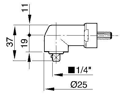 "Angle head 1/4"" - square drive"