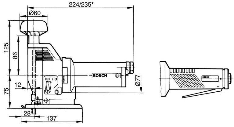 Druckluft-Pendelstichsäge mit Totmannschalter