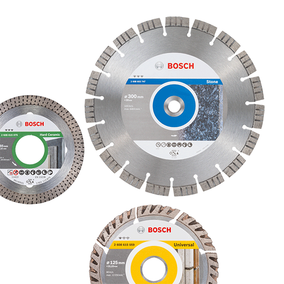 Bosch Angle Grinder Diamond Cutting Disc Blade Standard for Concrete 125 mm New