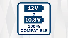 Changeover from 10.8V to 12V as of 2017